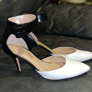 Black and white pointy heels 9.5 (DSW)